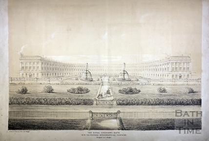 The Royal Crescent, Bath c.1850
