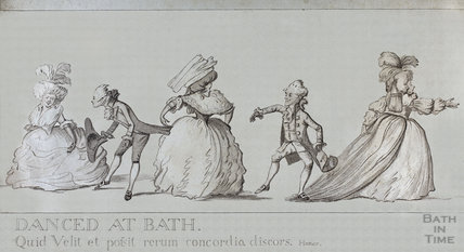 A Long Minuet as Danced at Bath - centre right portion - detail