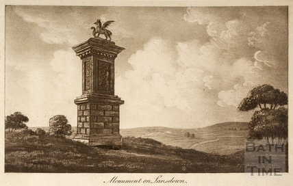 Monument on Lansdown, Bath c.1800