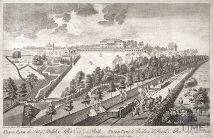 Prior Park, the Seat of Ralph Allen Esq. near Bath (and repeated in French) 1750