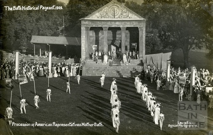The Bath Historical Pageant. Procession of American Representatives, Mother Bath 1909