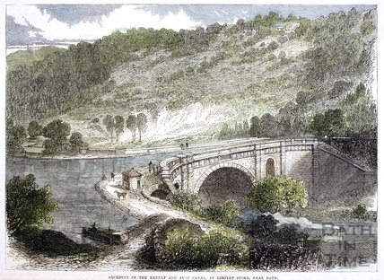 Aqueduct of the Kennet and Avon Canal, Limpley Stoke 1864