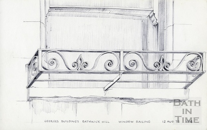 Georges Buildings, Bathwick Hill, Bath 12 Aug 1972