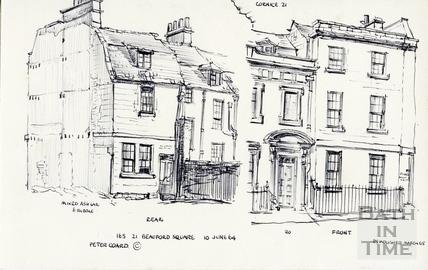 21, Beauford Square, Bath 1964