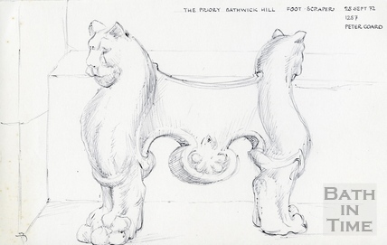The Priory, Bathwick Hill, Bath 25 Sep 1972