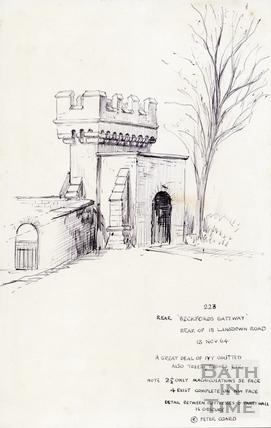 Beckford's Gateway, Bath 13 Nov 1964