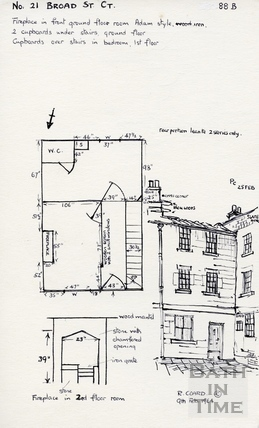21, Broad Street Place (Gracious Court), Bath 1964
