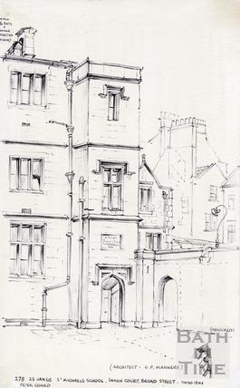 Saxon Court, Broad Street, Bath 23 Jan 1965