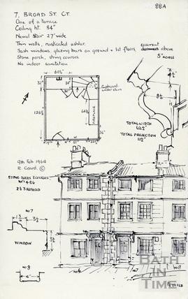 Broad Street Court, Broad Street, Bath 9 Feb 1964