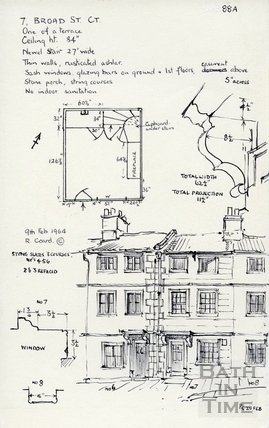 7, Broad Street Place (Gracious Court), Broad Street, Bath 1964