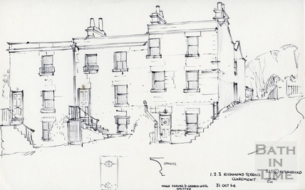 1,2,3, Richmond Terrace, Bath 31 October 1964