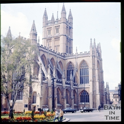 Bath Abbey from Orange Grove, Bath c.1965