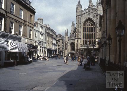 Abbey Church Yard from the Colonnade, Bath