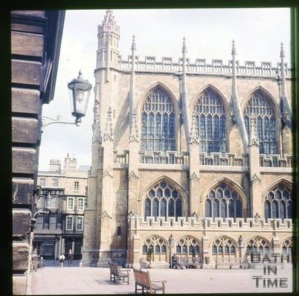 South side, Bath Abbey, Bath c.1965