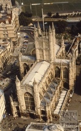Aerial view of Bath Abbey, Bath