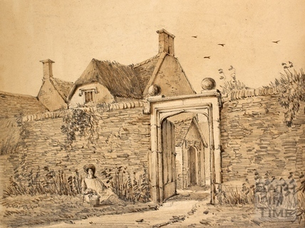 The old manor house, Wellow c.1850