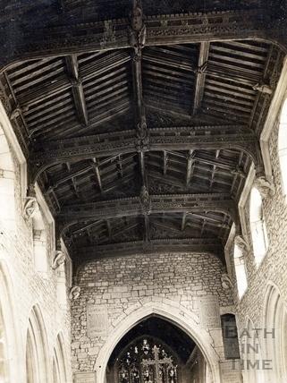 Church roof, dedicated to St. Julian, Wellow c.1900