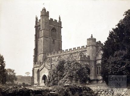The church, dedicated to St. Julian, Wellow c.1900