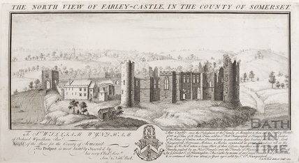 The North view of Farley (Farleigh) Castle in the County of Somerset 1733
