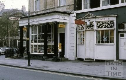 A. H. Hale, Chemist, 8 & Argyle Wine Vaults, 9, Argyle Street, Bath 1972