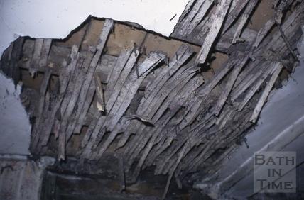 Ceiling laths, 2, Abbey Green, Bath 1971