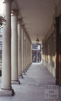 Colonnade, Bath Street, Bath 1974