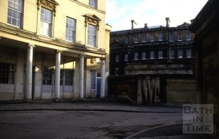 7 & 8, Bath Street from Hot Bath Street, Bath 1986