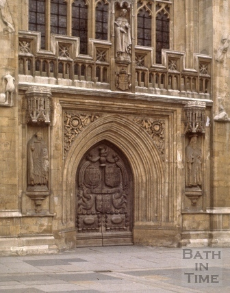 West door, Bath Abbey, Bath 1963