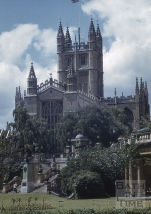 Bath Abbey from Parade Gardens, Bath 1980