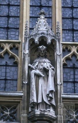 Statue of Henry VII, Bath Abbey, Bath 1966