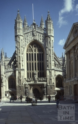 West front, Bath Abbey, Bath 1981