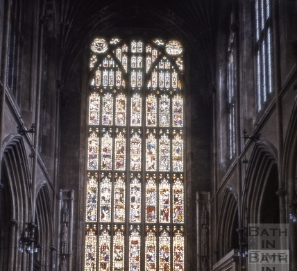 East window, Bath Abbey, Bath 1957