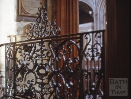Ironwork of the altar, Bath Abbey, Bath 1963