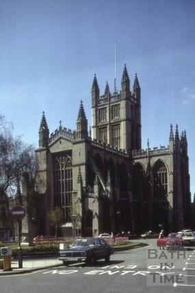Bath Abbey from Orange Grove, Bath 1981