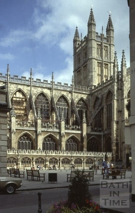 South side, Bath Abbey, Bath 1980