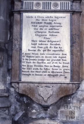 Memorials, Bath Abbey, Bath c.1963