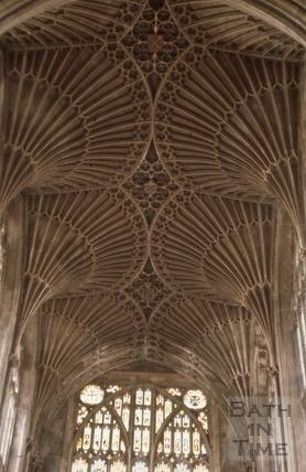 Vaulted ceiling, Bath Abbey, Bath 1963