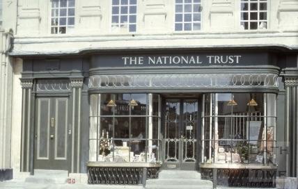 The National Trust shop, 14, Abbey Church Yard, Bath 1980