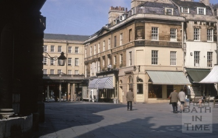 North west corner, Abbey Church Yard, Bath 1969