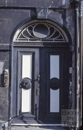 Front door, 4, Alfred Street, Bath 1979