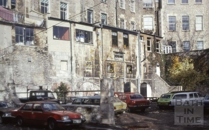 Rear of south side, Argyle Street, Bath 1981