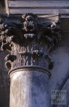 Detail of Corinthian capital, 4, Abbey Street, Bath 1969