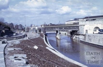 River Avon, Widcombe, Bath 1975