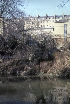 River Avon near Walcot Street, Bath 1979