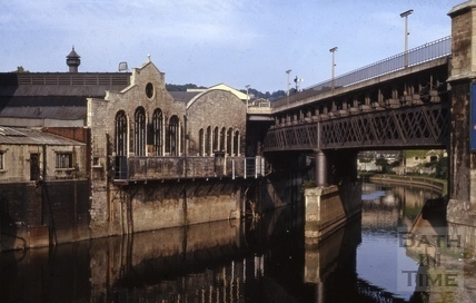 The Skew Bridge across the River Avon, Bath 1965