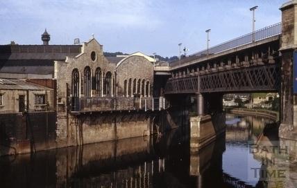 The Skew Bridge across the River Avon, Bath 1965