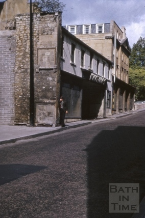 Whiting's Garage, Barton Street, Bath 1966