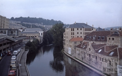 River Avon behind Grove Street, Bath 1984