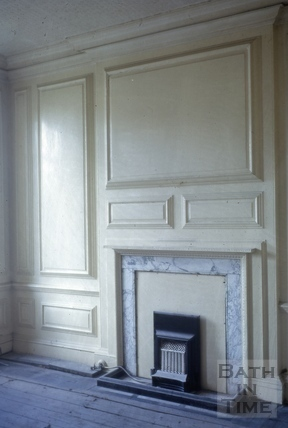 Fireplace and wall panelling, Batheaston House, Batheaston 1965