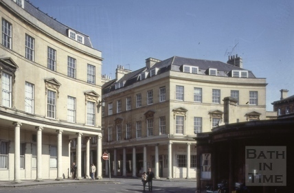 Bath Street from St. Michael's Place, Bath 1981